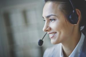 Young customer support representative